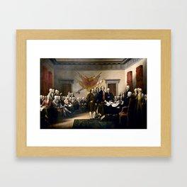 Signing The Declaration Of Independence Framed Art Print