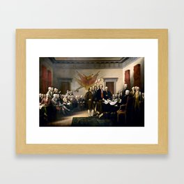 Signing The Declaration Of Independence Framed Art Print