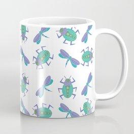 Dragonflies and Beetles Mini Coffee Mug