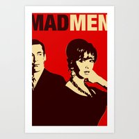 mad men Art Prints featuring Mad Men by Kenny the Bearded