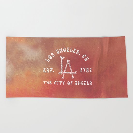 The City of Angels Beach Towel