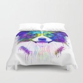 Border Collie watercolor, Watercolor Border Collie, Watercolor dog, Border Collie portrait Duvet Cover