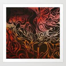 Petrol Art Print
