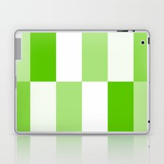 Green and White Gradient Blocks Laptop & iPad Skin