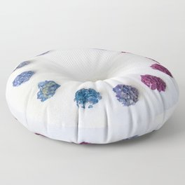Circle of Hydrangea Floor Pillow