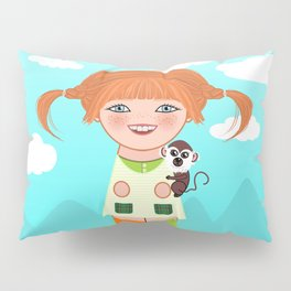 Kokeshi Pippi Pillow Sham