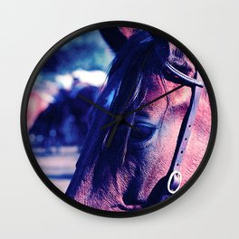 Horse-1-Blues Wall Clock