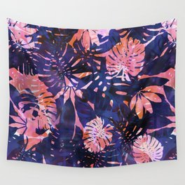 Motuu Tropical Pink & Purple Wall Tapestry