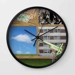 An der Schwelle zur Freiheit · a day with Magritte 1 Wall Clock