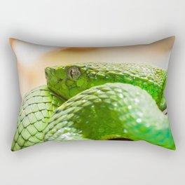 Coiled green snake Rectangular Pillow