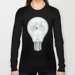 Light Bicycle Bulb Long Sleeve T-shirt