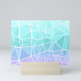 Cyan, Turquoise, and Purple Triangles Mini Art Print