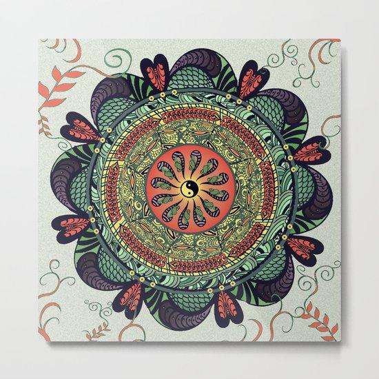 812 Multicolor Mandala Metal Print