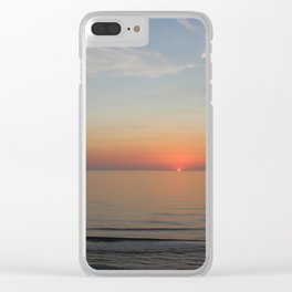 Ocean Sunrise First peek of the sun Clear iPhone Case
