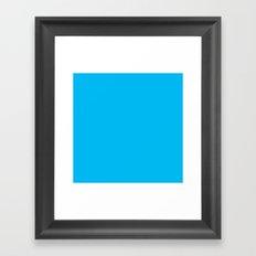 00b9f2 Framed Art Print