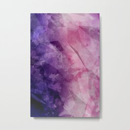 Violet - Watercolor Painting in Ultra Violet Purple and Pink Metal Print