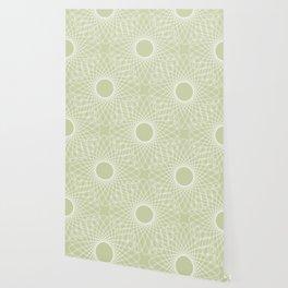 mathematical rotating roses - powder green Wallpaper