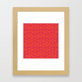 Kenna (Rubine Red and Orange) Framed Art Print