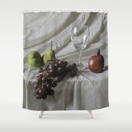 Bodegón de frutas Shower Curtain