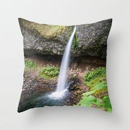 Ponytail Falls - Columbia River Gorge Throw Pillow