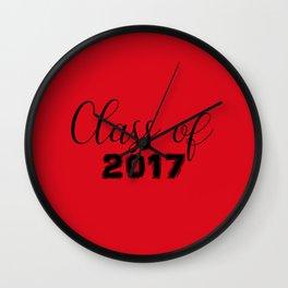 Class of 2017 - Red Black Wall Clock