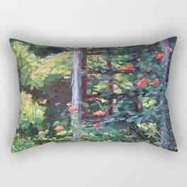 Rose Trellis, Oil Rectangular Pillow