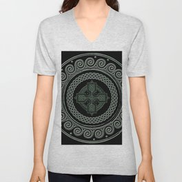 Awesome Celtic Cross Unisex V-Neck