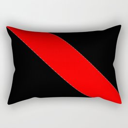 Oblique red and black Rectangular Pillow
