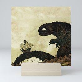 Leviathan & Ship Mini Art Print