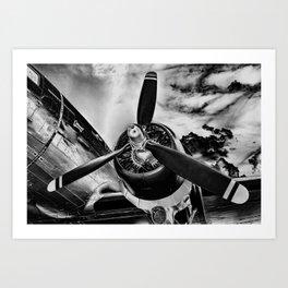 Airplane Prop Metallic Print Art Print