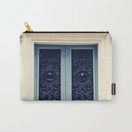 Paris Door, Pastel Blue Grey Carry-All Pouch