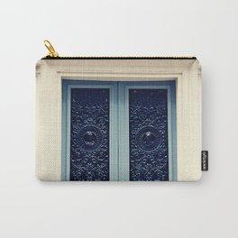 Paris Door, Pastel Blue Grey Carry-All Pouch
