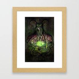 Dim Framed Art Print