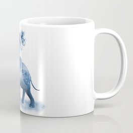 Blue Smoky Clouded Elephant Coffee Mug