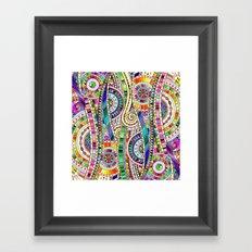 Mosaic colorful background Framed Art Print