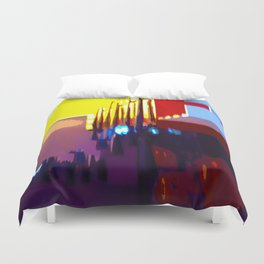 At The Bowling Alley Duvet Cover