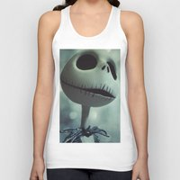 nightmare before christmas Tank Tops featuring Jack Skellington (Nightmare Before Christmas) by LT-Arts