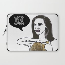 Hashtag it's all happening Laptop Sleeve