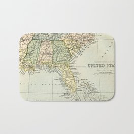 Vintage Map of the South Of The United States Of America Bath Mat