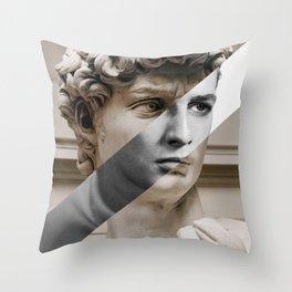 Michelangelo's David & Marlon Brando Throw Pillow