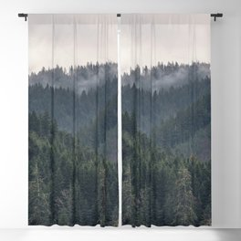 Pacific Northwest Forest - Nature Photography Blackout Curtain