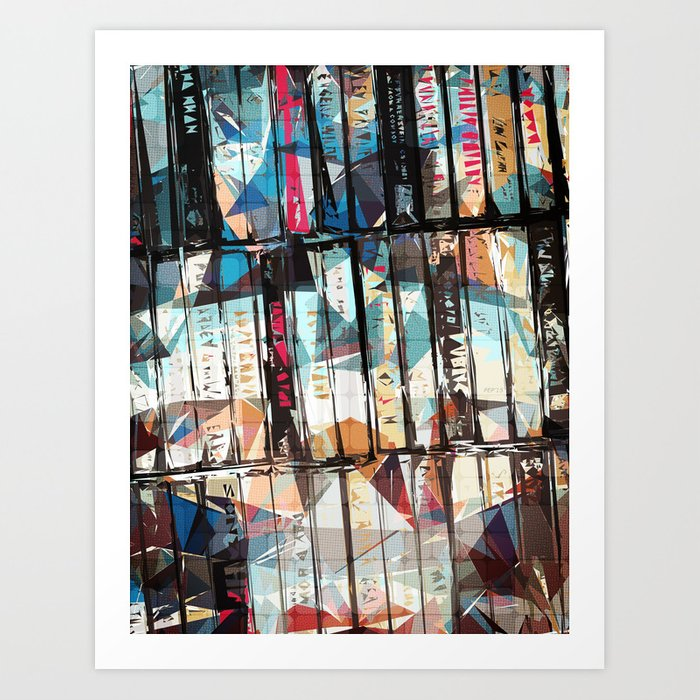 Musical Cassette Tapes Collage Art Print