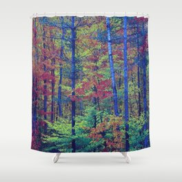 Forest - with exaggerated colors Shower Curtain