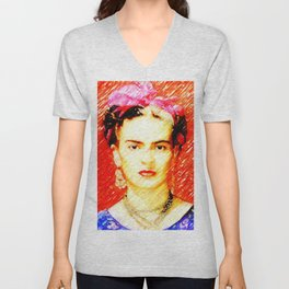 Looking for Frida Kahlo... Unisex V-Neck