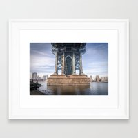 dumbo Framed Art Prints featuring DUMBO by MikeMartelli