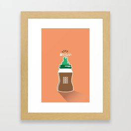 In My Fridge - Chocolate Milk Framed Art Print