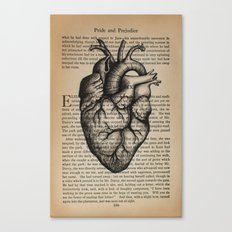 Pride & Prejudice, Chapter XXXV: Anatomical Heart Canvas Print