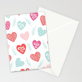 Love and hearts Stationery Cards