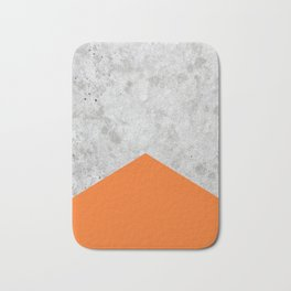 Concrete Arrow - Orange #118 Bath Mat