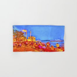 Istanbul Pop Art Hand & Bath Towel